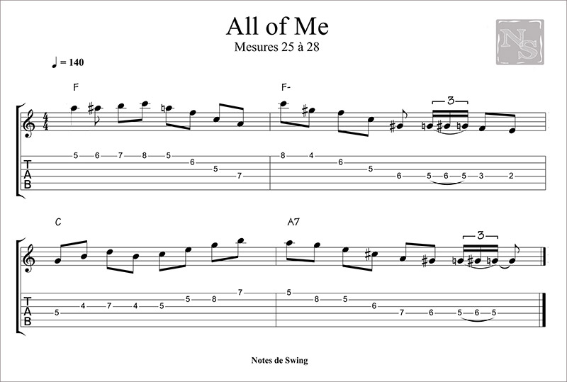ALL OF ME MESURE 25 A 28