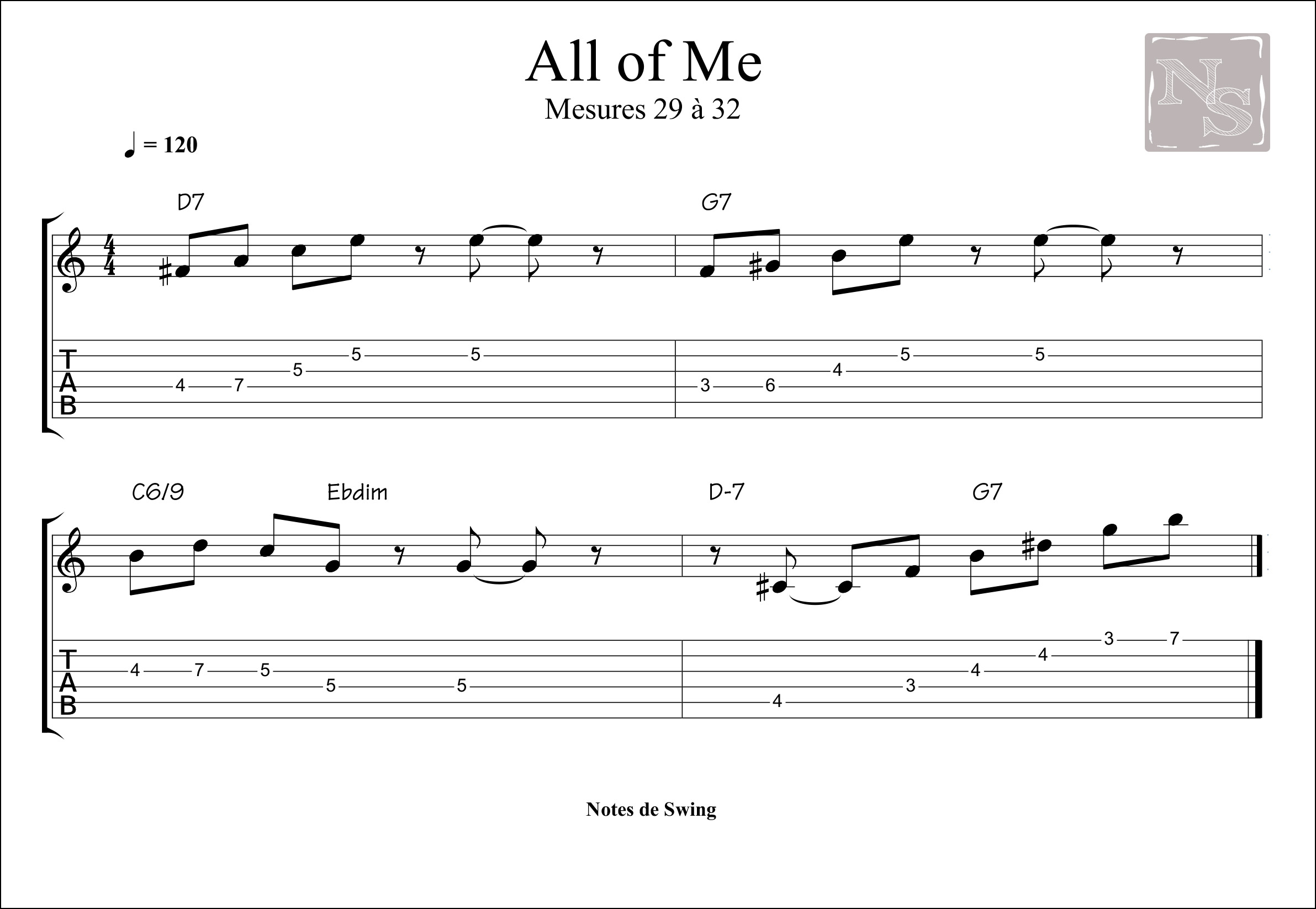 ALL OF ME MESURE 29 a 32