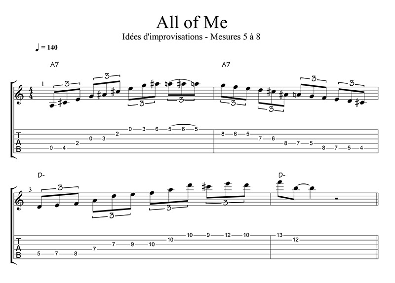 ALL OF ME MESURE 5 à 8